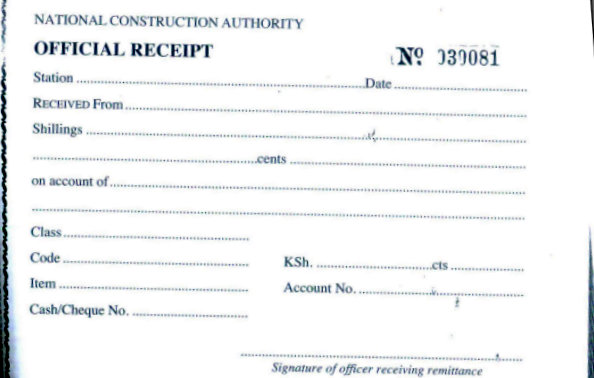 eRegulations Kenya – Official Receipt