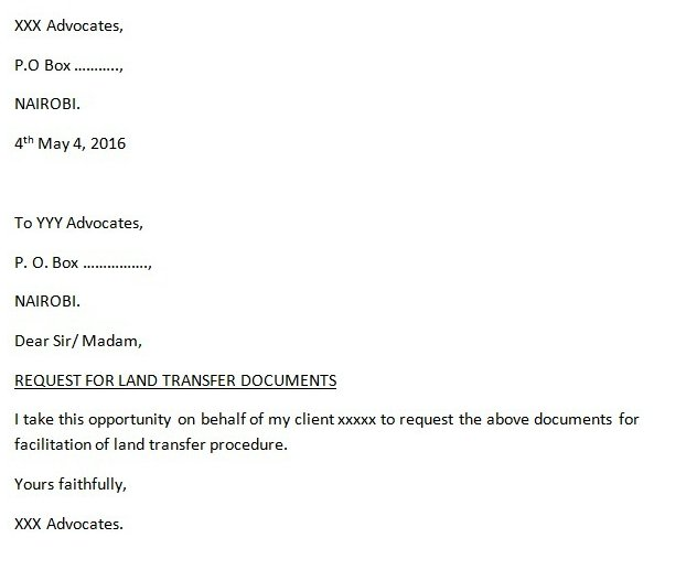 eRegulations Kenya – Purchase Requisition Letter