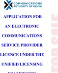 Application Form For Electronic Communications Service