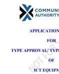 Type approval application form