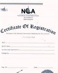 Contractor registration certificate
