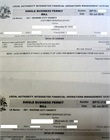 Payment invoice for business permit
