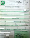 Approved business permit application form