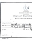 Engineer's practicing certificate
