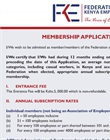 FKE application form