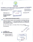 Stamped NEMA forwarding letter