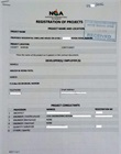 Stamped application form