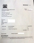 Payment invoice for business name registration