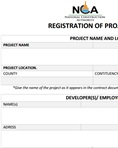 NCA project registration form