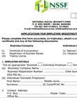 NSSF employers registration form