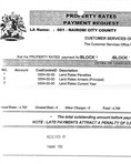Land rates clearance receipt