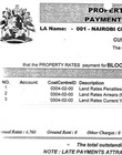 Invoice for land rates