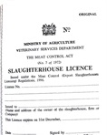 Slaughterhouse licence