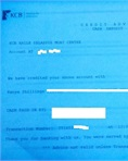 Security bond receipt