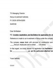 Permit facilitation letter