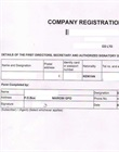 Application to register company limited by shares - CR1