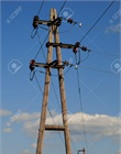 Electric poles and power lines