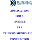 Telecommunications contractor licence