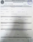 Single business application form
