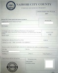 Unified business permit