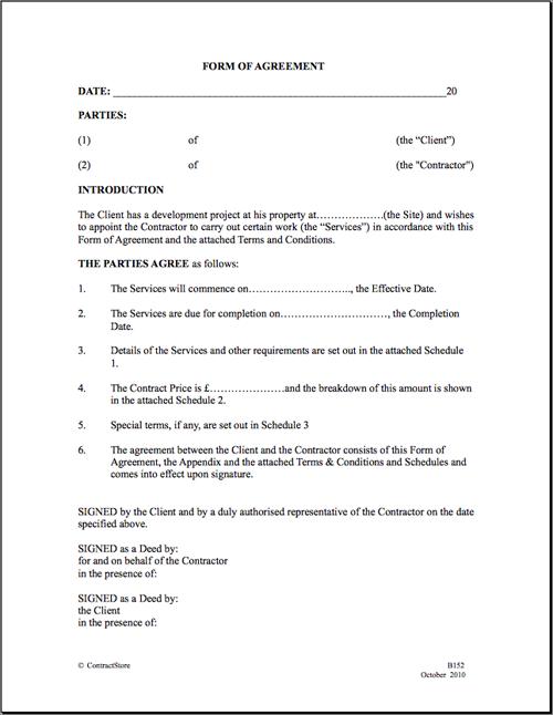 Construction Contractor Agreement | Eregulations Kenya