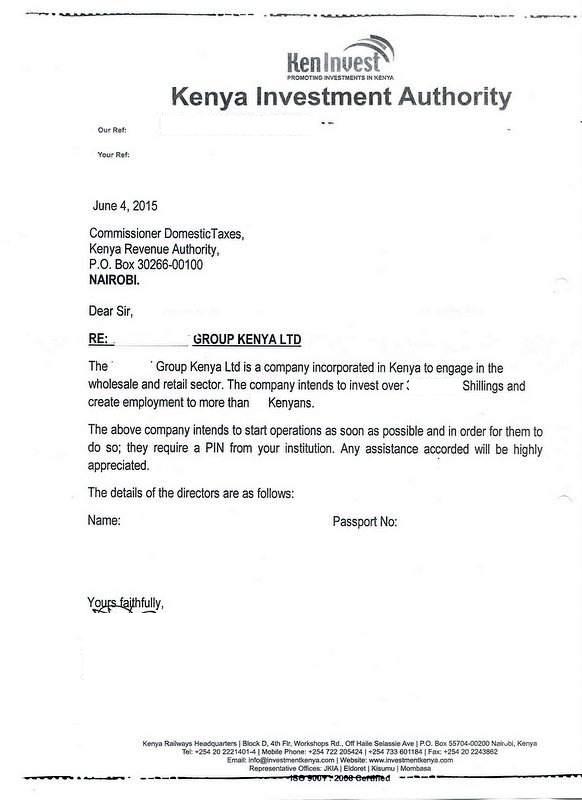 Eregulations kenya endorsement letter certificate of incorporation spiritdancerdesigns Images