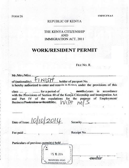 Format Of Permit Letter